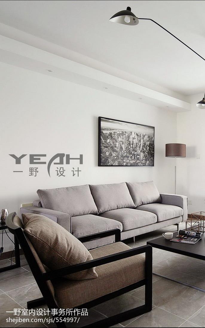 精选面积98平简约三居客厅效果图片