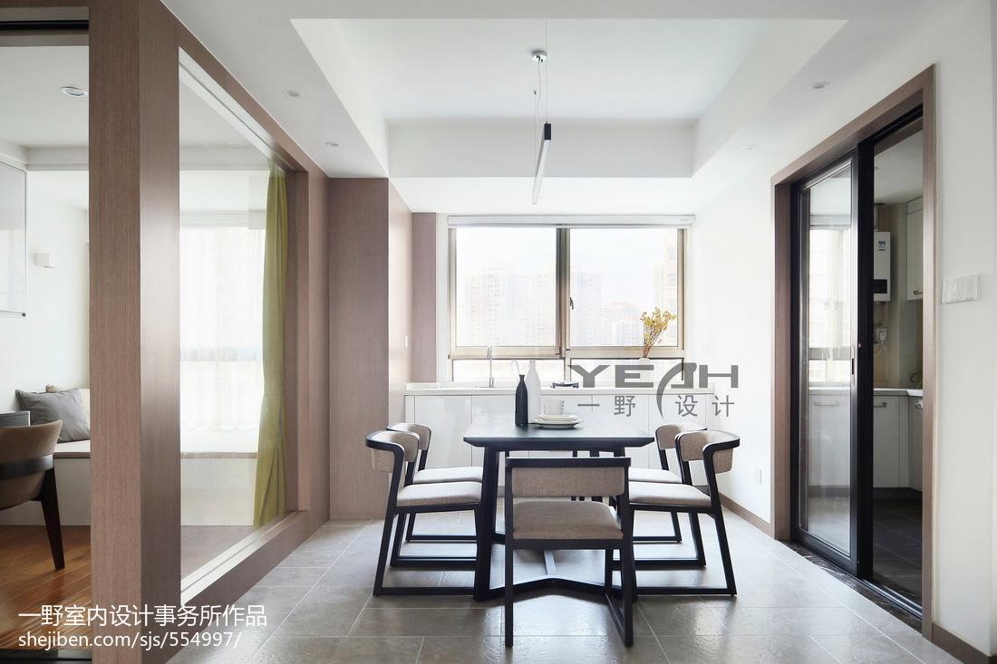 面积97平简约三居餐厅设计效果图