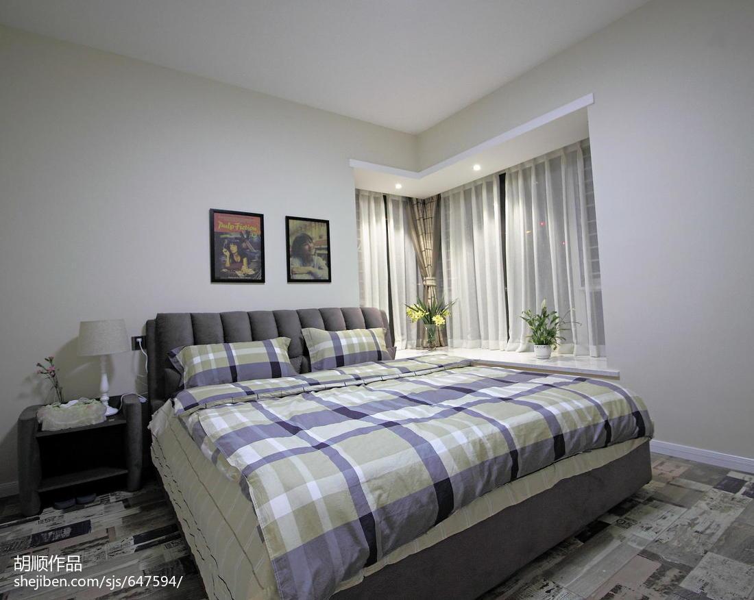 华丽74平现代复式卧室实拍图