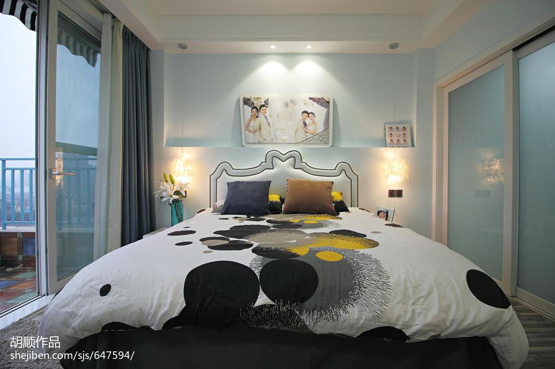 优美70平现代复式卧室装修装饰图