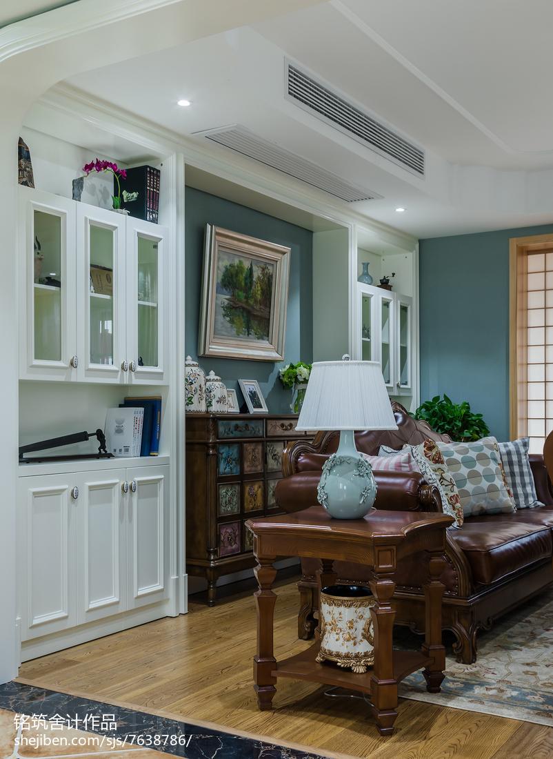 精美面积110平美式四居客厅效果图片欣赏