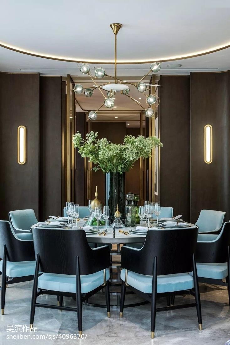 精选面积126平别墅餐厅中式装修图片大全