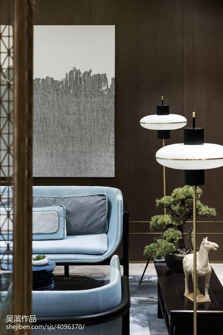 2018110平方中式别墅客厅欣赏图片