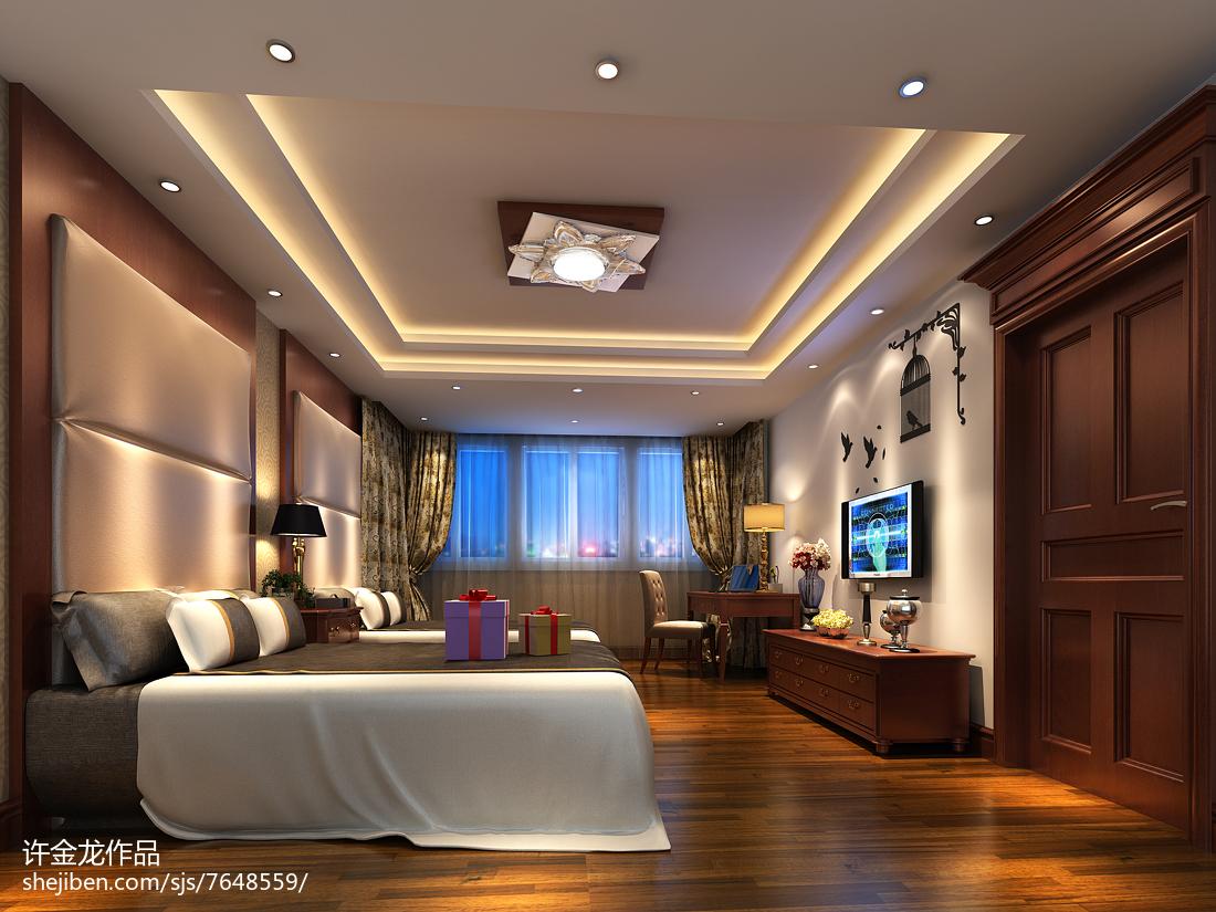质感时尚现代风卧室装修效果图