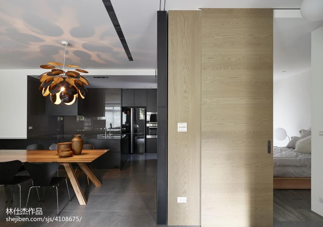 简洁94平欧式三居餐厅装饰美图