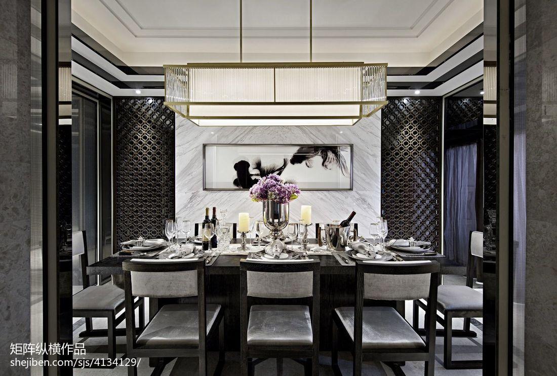 热门餐厅中式装修设计效果图片