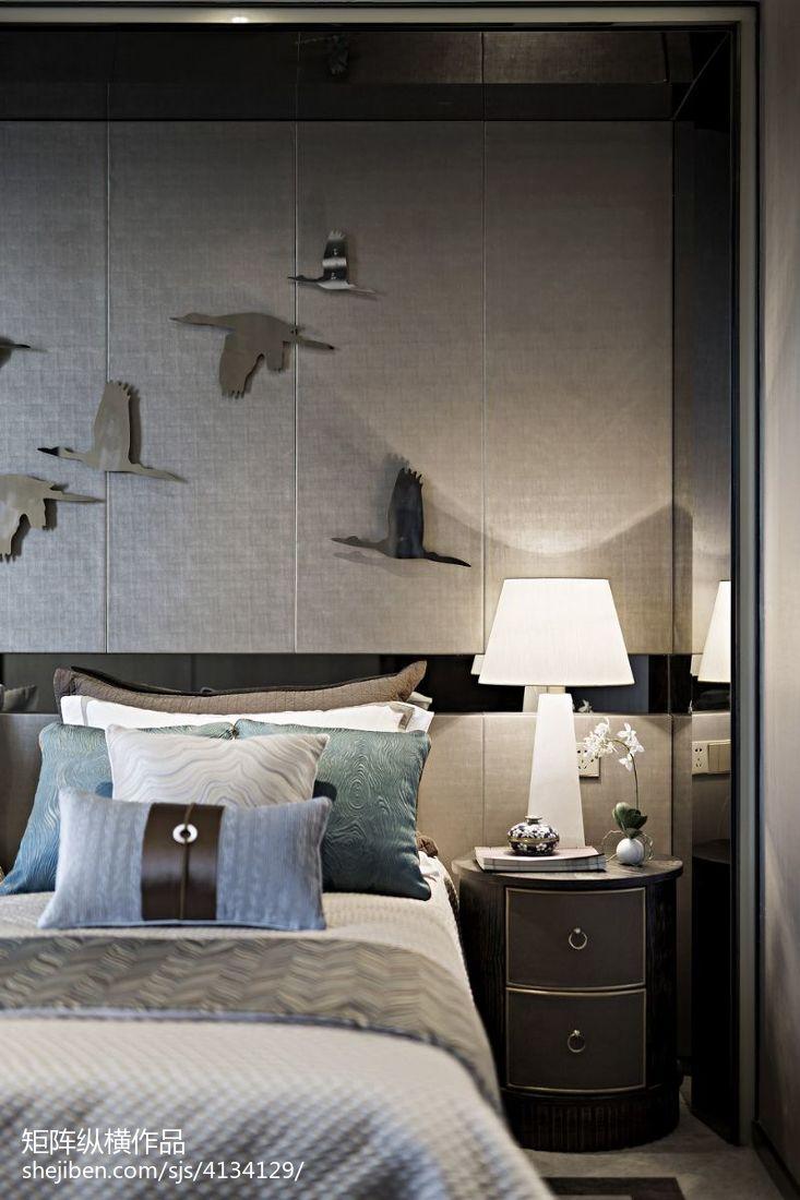 优雅293平中式样板间卧室案例图