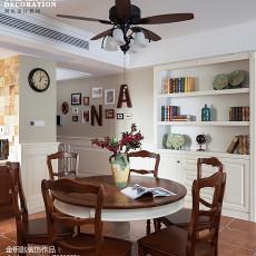 精选面积124平美式四居餐厅装修实景图片