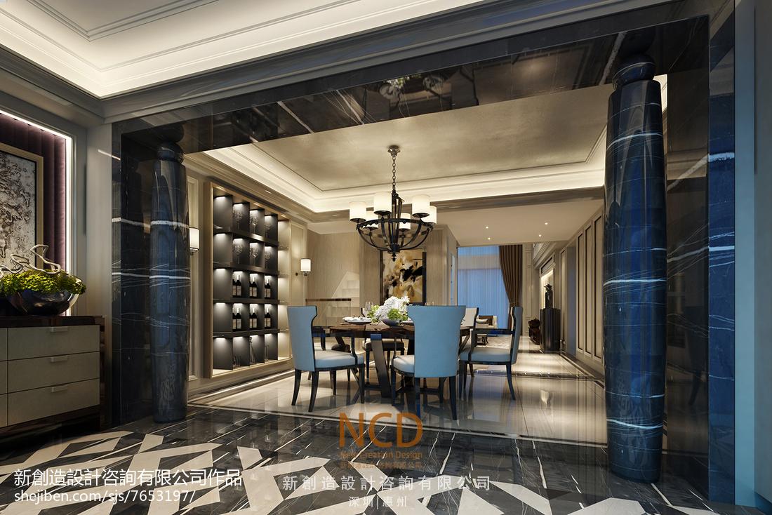 精选122平米欧式别墅玄关装修设计效果图片大全