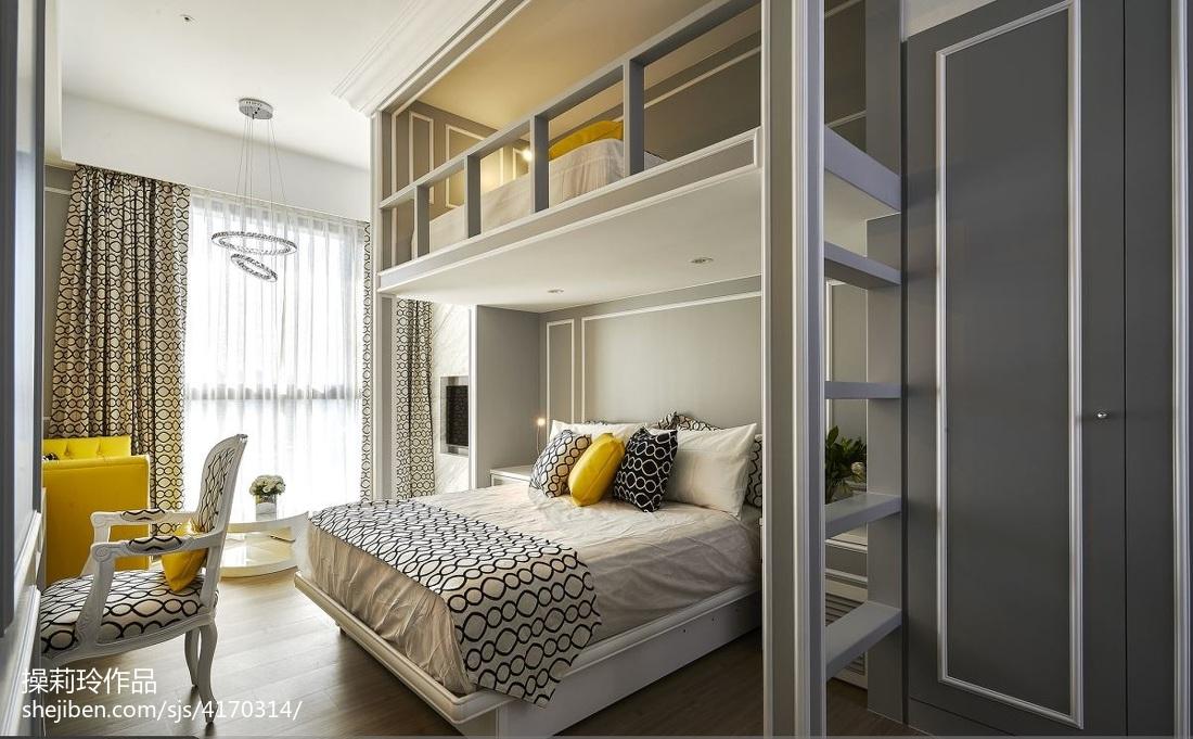 热门83平米混搭小户型卧室装修效果图