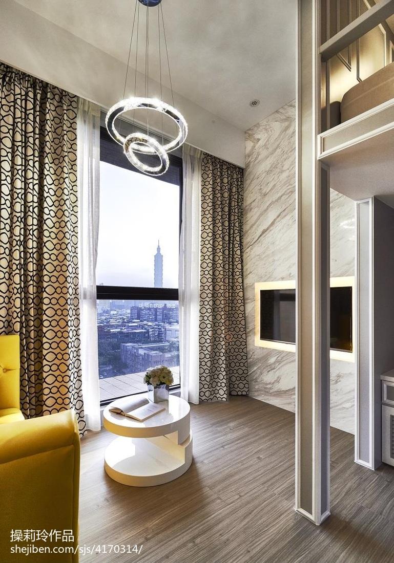 面积77平小户型客厅混搭装饰图片欣赏