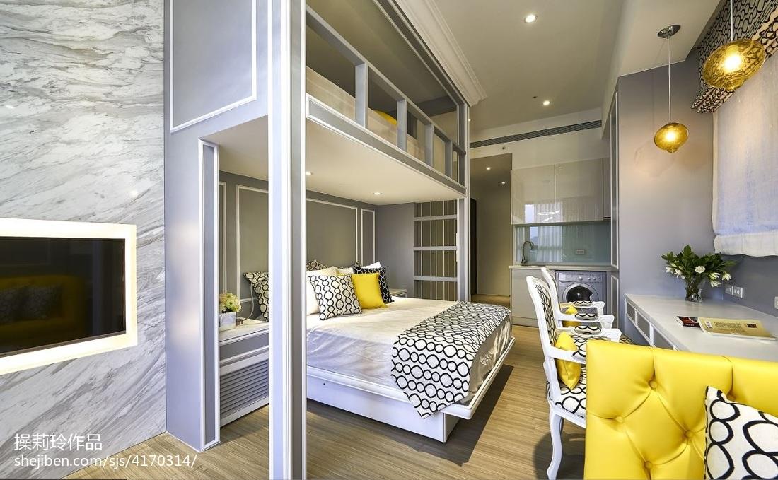 201872平米混搭小户型卧室装修设计效果图片