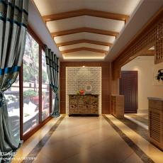 113平米东南亚别墅玄关装修欣赏图片