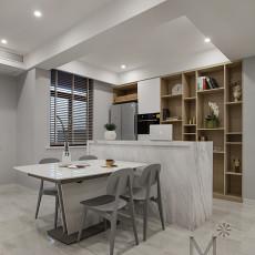 精选102平方三居餐厅现代装修设计效果图片欣赏
