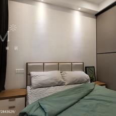 2018面积105平现代三居卧室效果图片大全