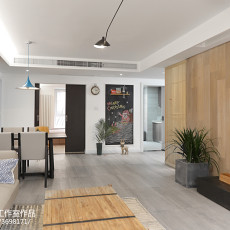 精选102平米三居客厅北欧装修设计效果图片