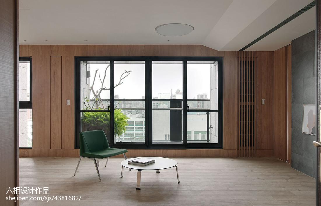精美71平米简约小户型客厅实景图