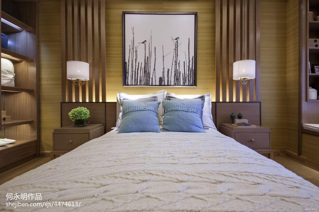 2018三居卧室中式装修效果图