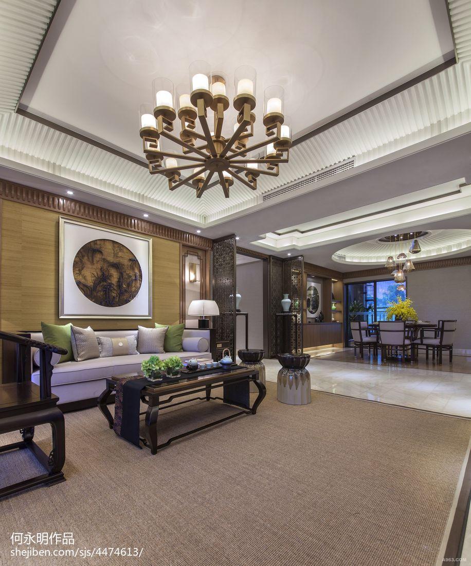 禪意中式風格客廳吊頂設計
