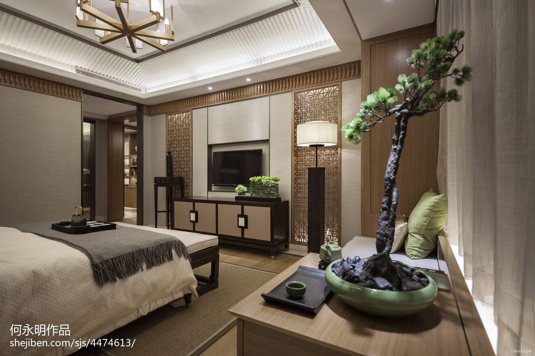 面积100平中式三居卧室装修欣赏图