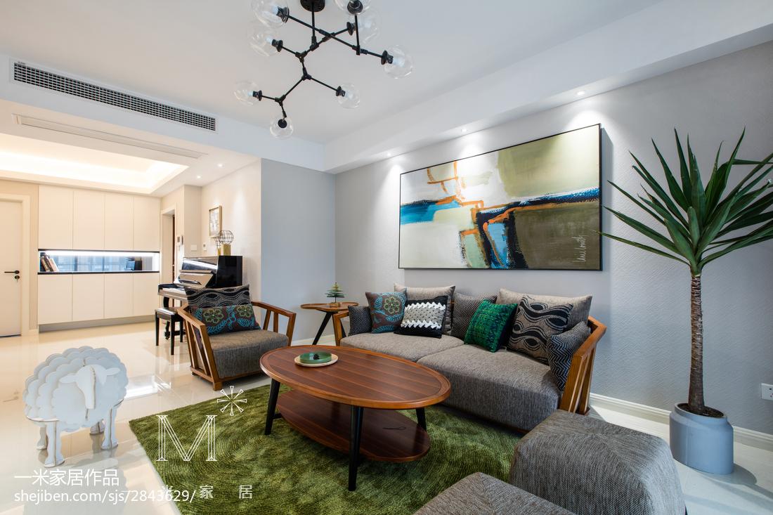 現代風客廳沙發背景墻設計