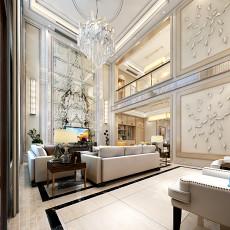 面积123平别墅客厅现代装修设计效果图