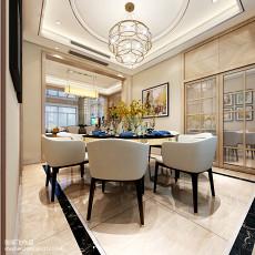 2018精选138平米现代别墅餐厅效果图片
