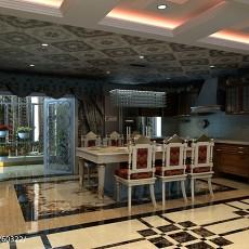 热门108平米三居厨房欧式欣赏图片