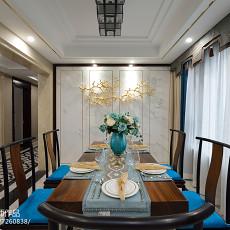 精选大小110平中式四居餐厅装修实景图