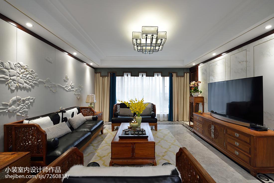 精选面积140平中式四居装修设计效果图片欣赏