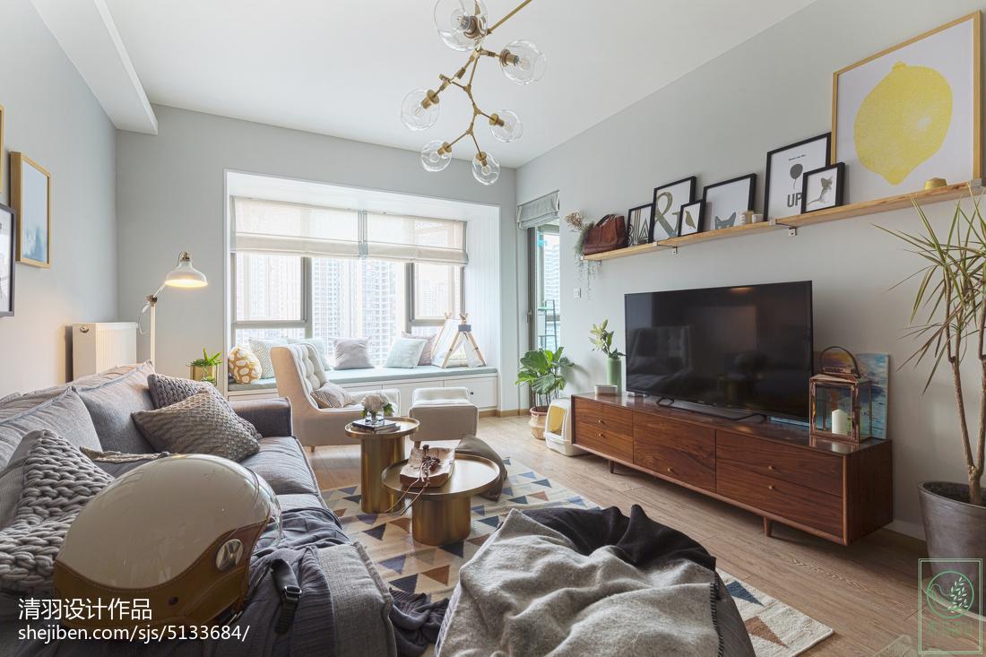 面积87平北欧二居客厅装修图片欣赏