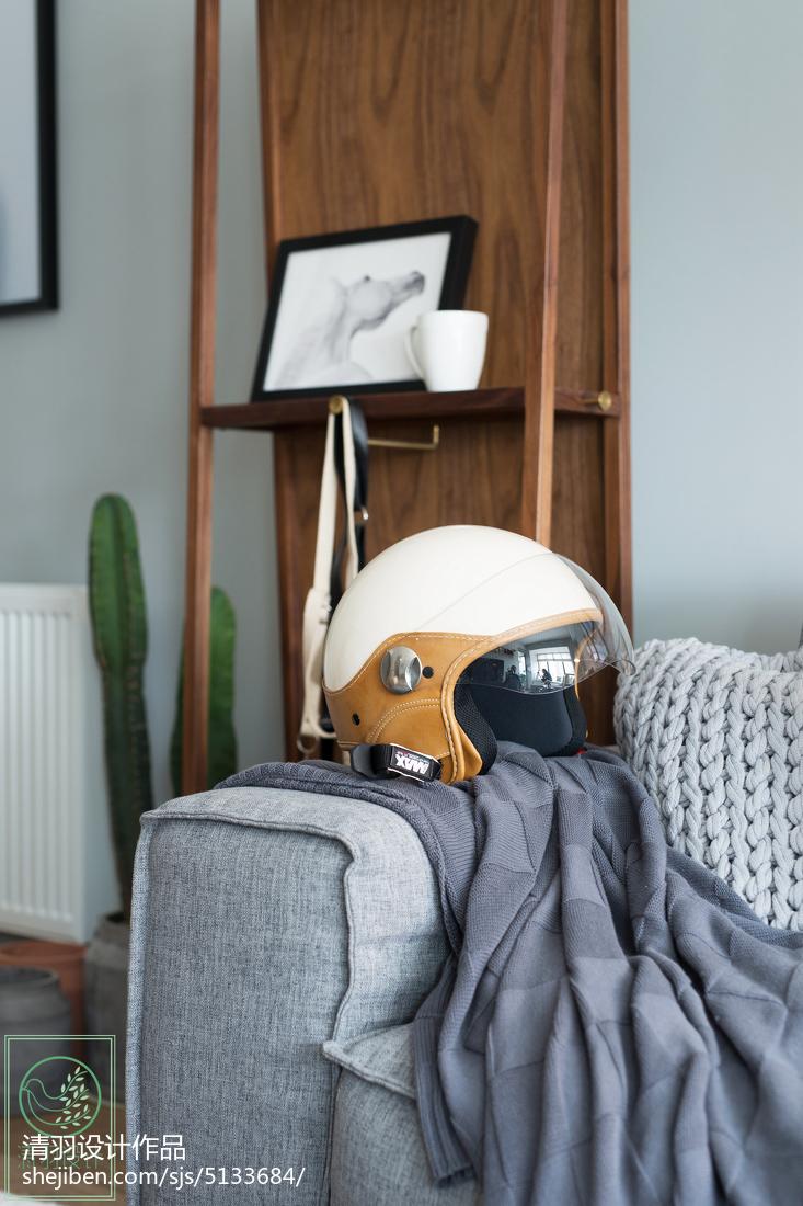 201871平米二居客厅北欧装修设计效果图片欣赏