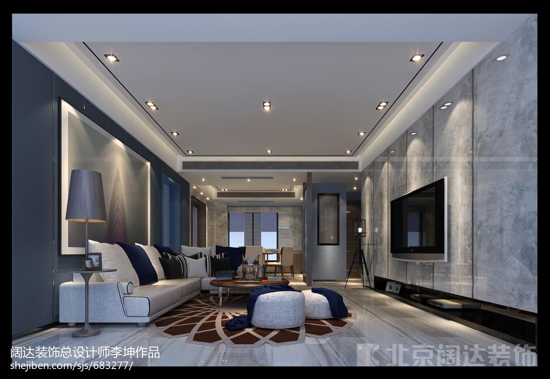 热门面积113平现代四居客厅装饰图片