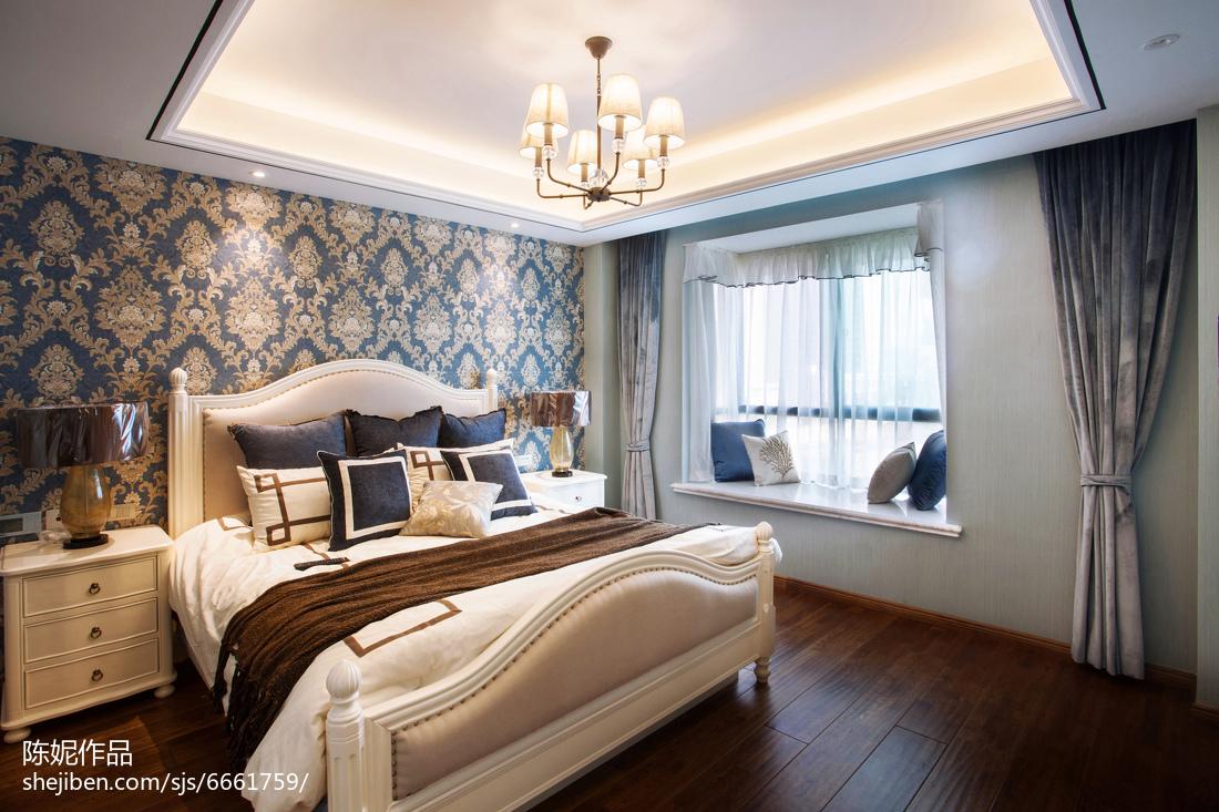 2018四居卧室美式装修实景图片欣赏