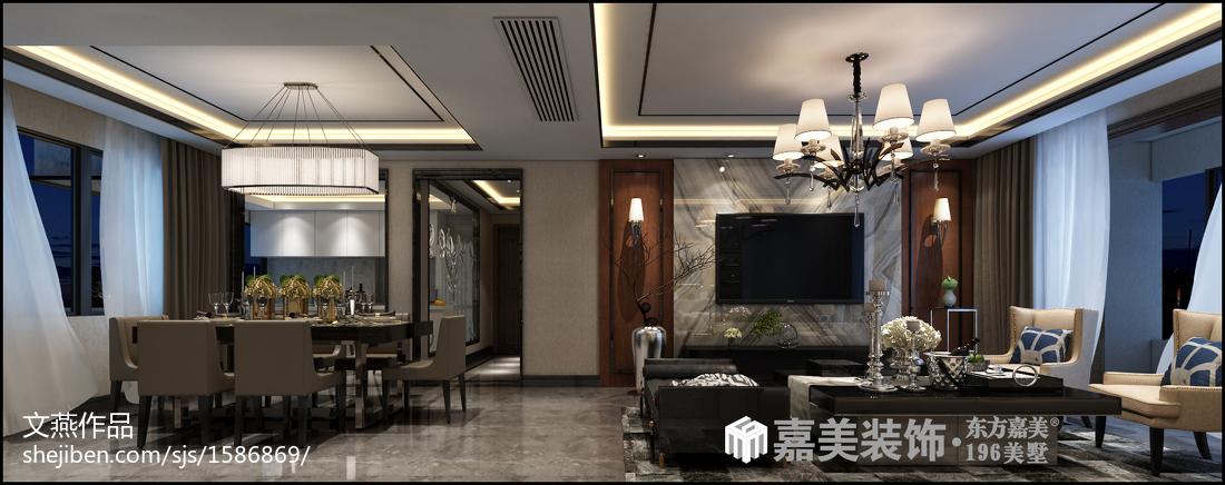 休闲别致中式风格餐厅装修效果图
