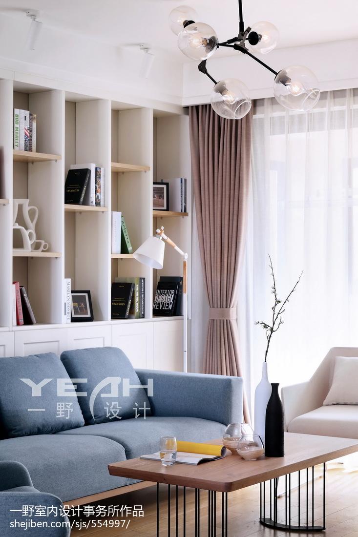 浪漫59平北欧二居客厅设计案例