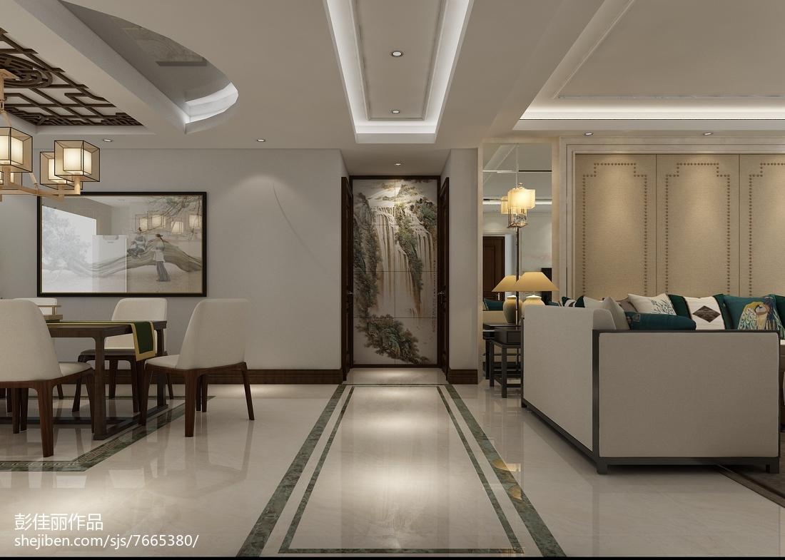 137平米中式别墅效果图片大全