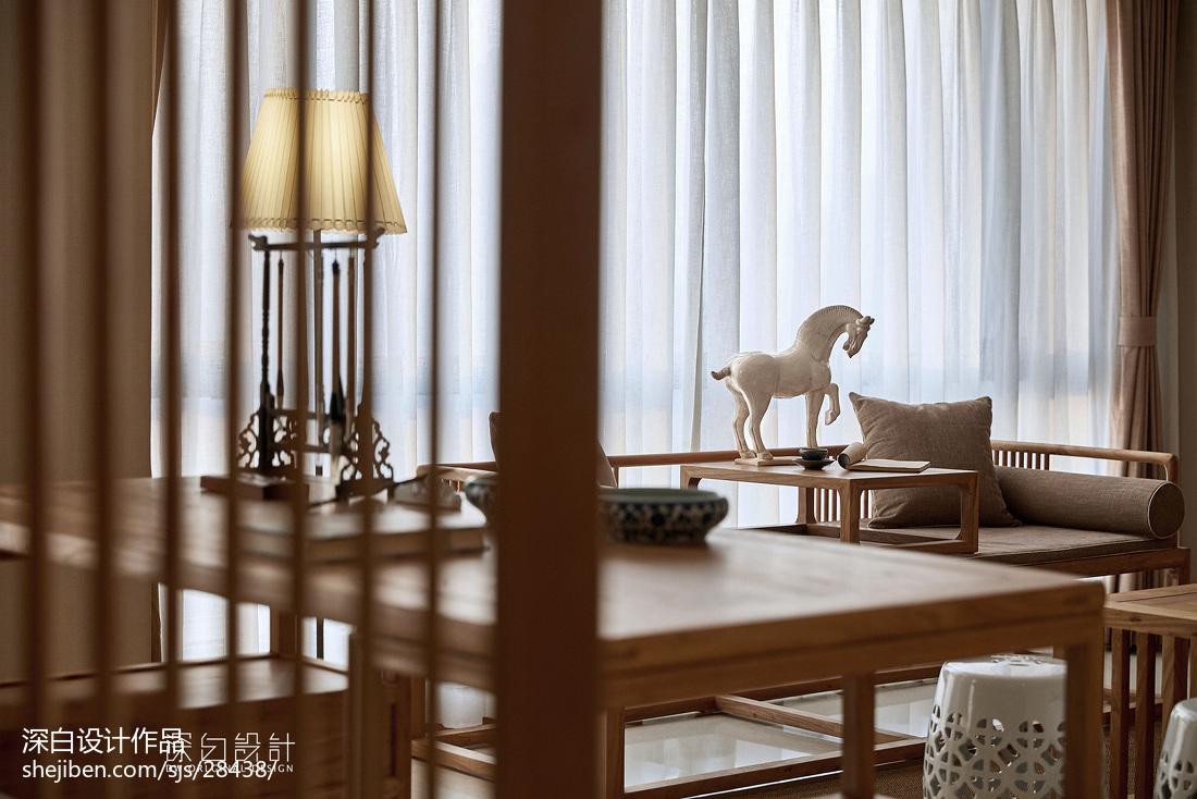 热门大小102平中式三居客厅装修实景图片