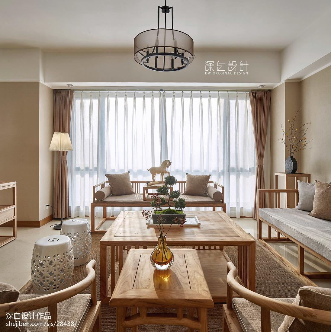 中式休闲客厅效果图