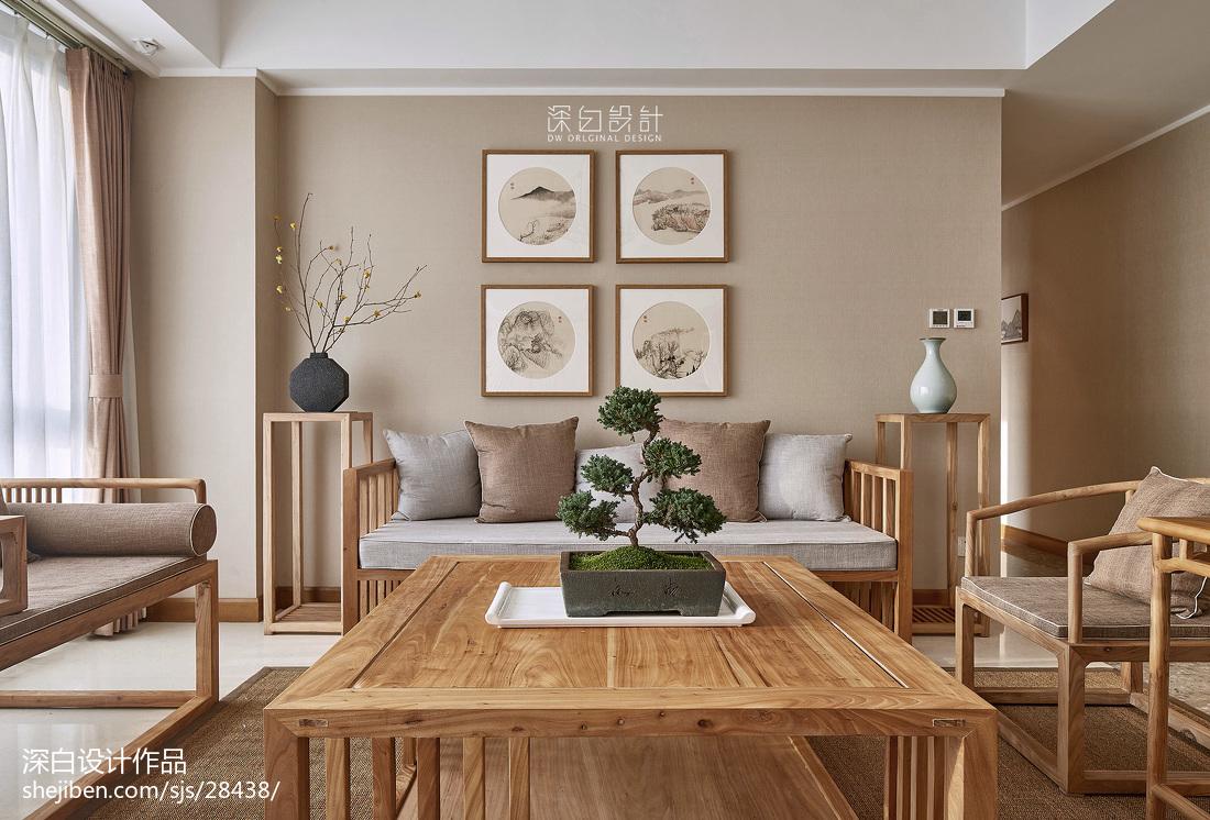 中式休闲客厅装饰画设计