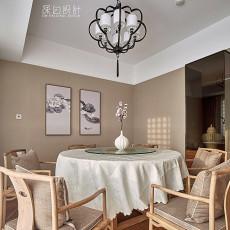 精美面积94平中式三居餐厅欣赏图片