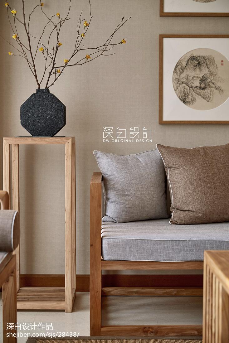 热门107平米三居客厅中式装修效果图片大全