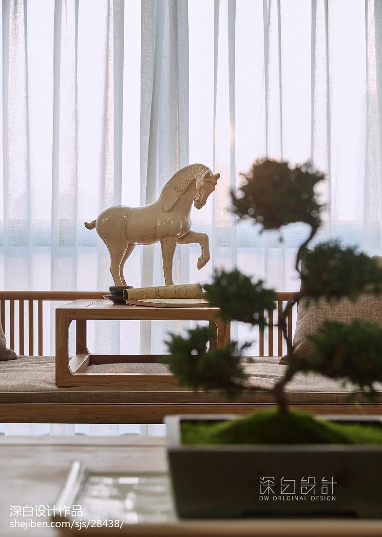 2018精选面积95平中式三居客厅装修设计效果图片