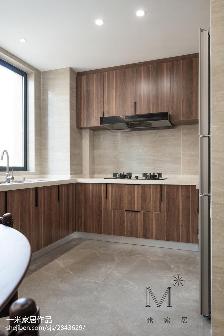 典雅94平现代三居厨房装修图片