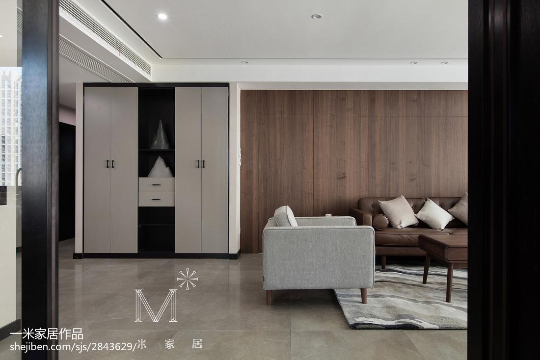 优雅118平现代三居装修图片