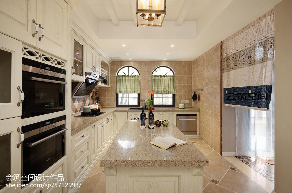 简洁84平美式复式厨房图片欣赏