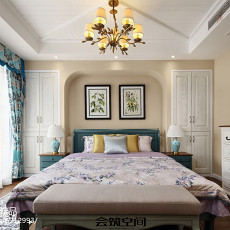 精选面积141平复式卧室美式装修实景图片欣赏