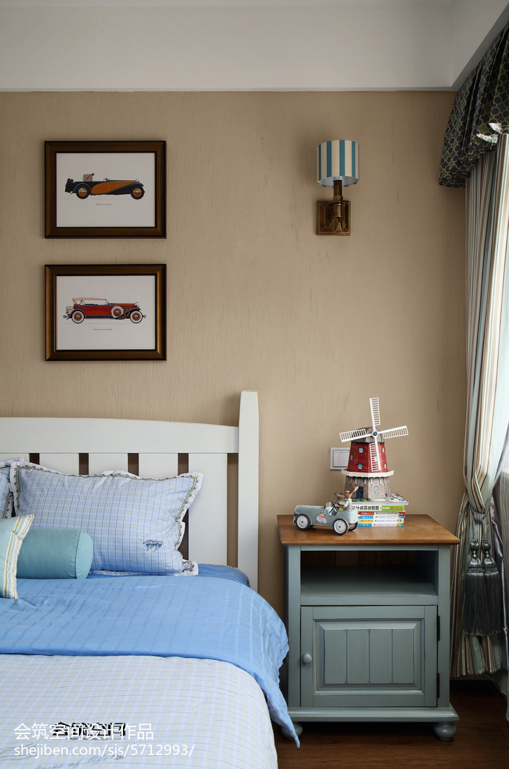热门面积118平复式儿童房美式装修设计效果图