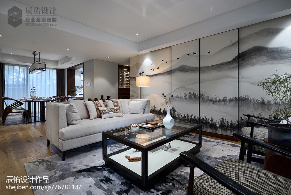 熱門121平米中式復式客廳裝修圖片欣賞