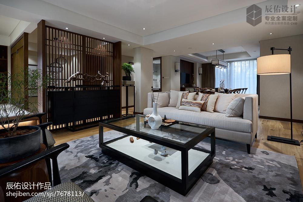 2018精选面积125平复式客厅中式装修效果图片欣赏